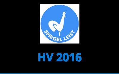 Unterlagen HV 2016